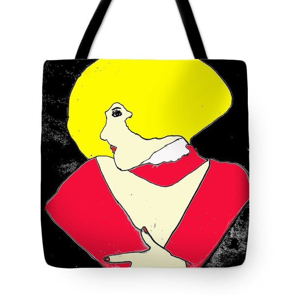 Tote Bag featuring the drawing Movie Star by W And F Kreations