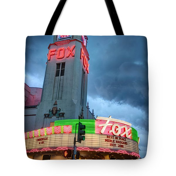 Movie Theater Tribute To Merle Haggard Tote Bag