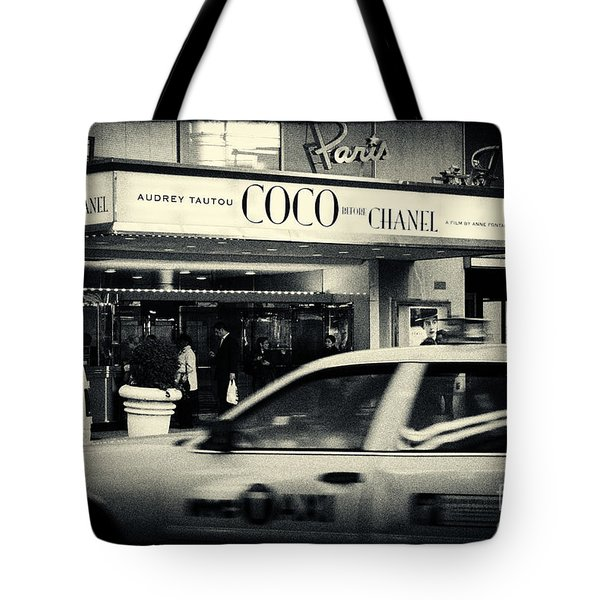 Movie Theatre Paris In New York City Tote Bag