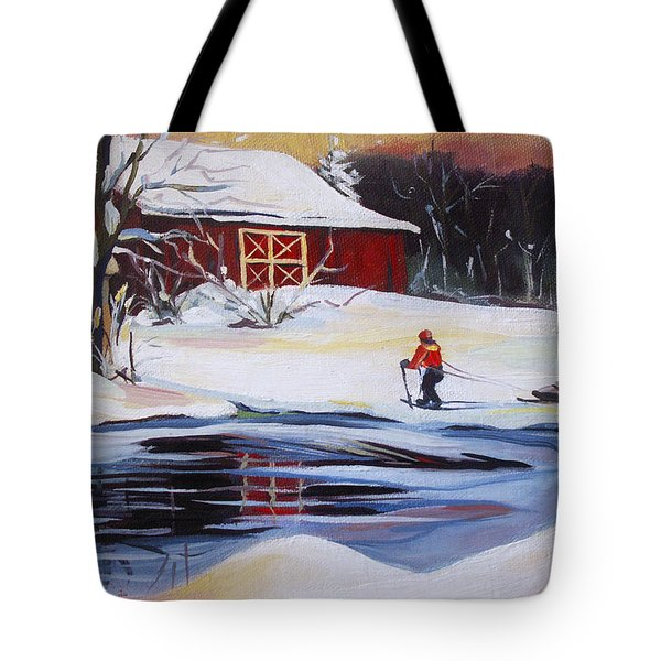 Moving Into Winter Haven Tote Bag by Nancy Griswold