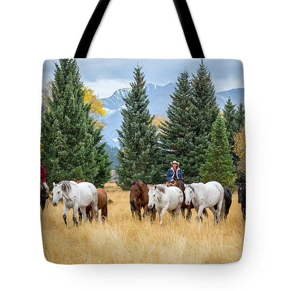 Moving The Herd Tote Bag by Jack Bell