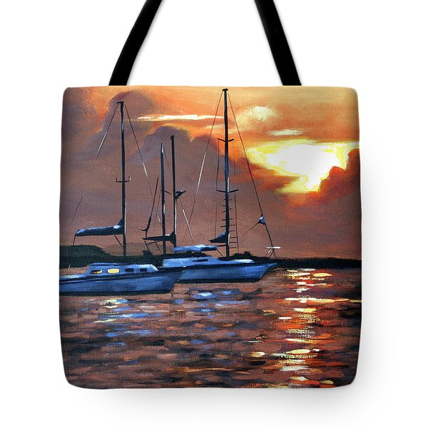 Moving Toward The Light Tote Bag by Anthony Falbo