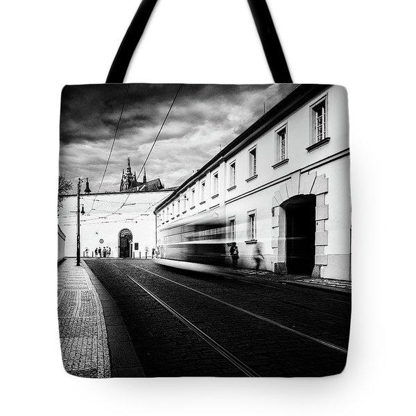 Street Tram Tote Bag