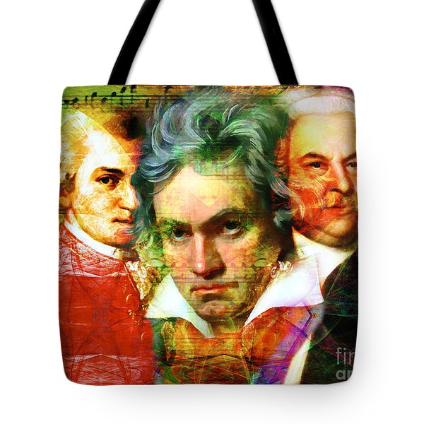 Mozart Beethoven Bach 20140128 Tote Bag by Home Decor