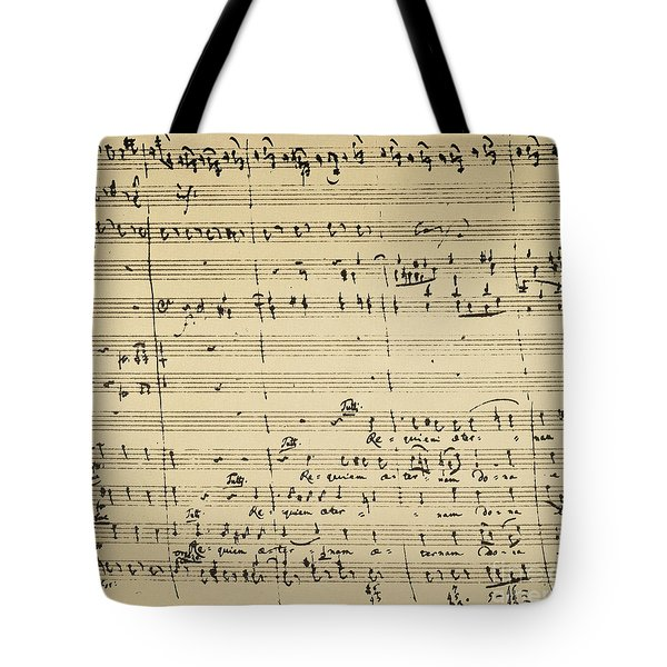 Tote Bag featuring the photograph Mozart: Requiem Excerpt by Granger