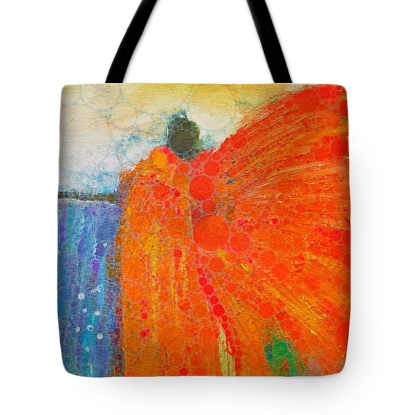 Mprints - Angel Of The Morning Tote Bag by M Stuart
