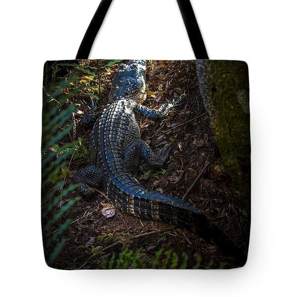 Mr Alley Gator Tote Bag by Marvin Spates
