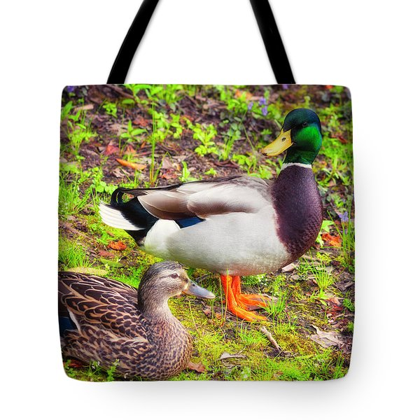 Mr And Mrs Mallard Tote Bag