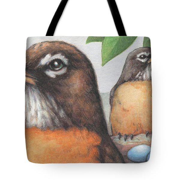 Mr And Mrs Robin Are Expecting Tote Bag by Amy S Turner