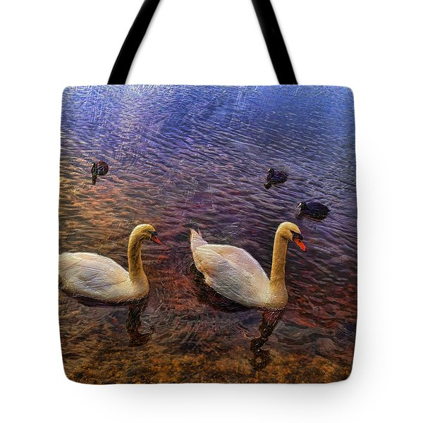 Mr And Mrs Swan Go Viisiting Tote Bag