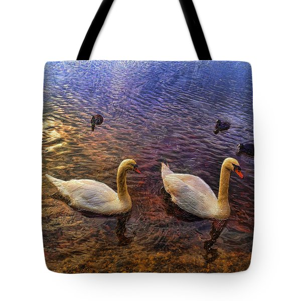 Mr And Mrs Swan Go Viisiting Tote Bag