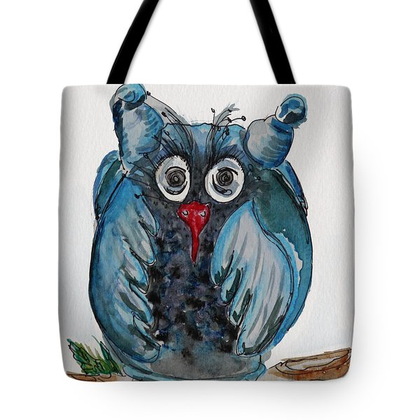Mr. Blue Owl Tote Bag