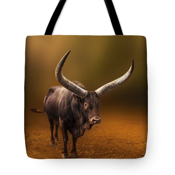 Mr. Bull From Africa Tote Bag by Charuhas Images