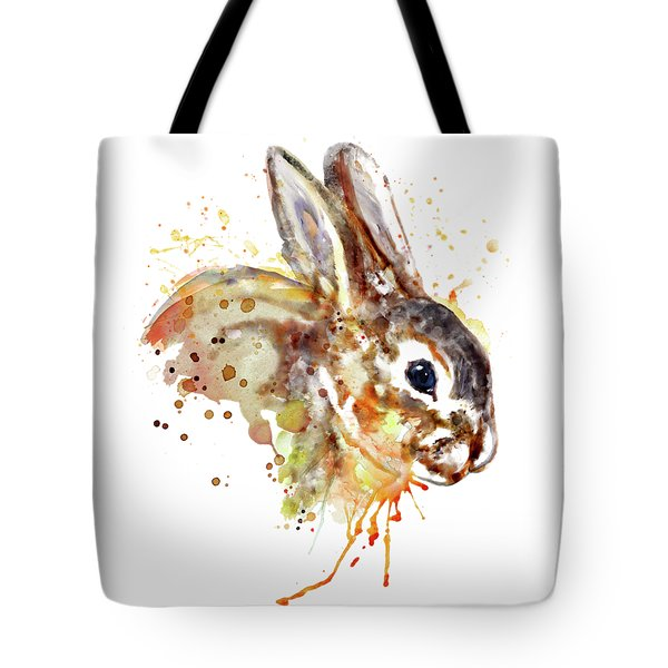 Tote Bag featuring the mixed media Mr. Bunny by Marian Voicu