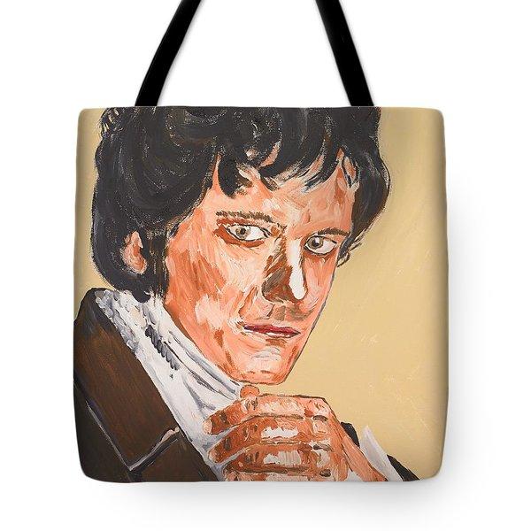 Mr. Darcy Tote Bag by Valerie Ornstein