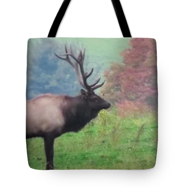 Tote Bag featuring the photograph Mr Elk Enjoying The Autumn by Jeanette Oberholtzer