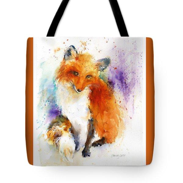 Mr. Fox Tote Bag by Christy Lemp