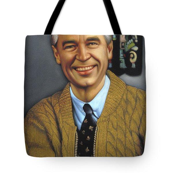 Mister Rogers Neighborhood Tote Bags | Fine Art America