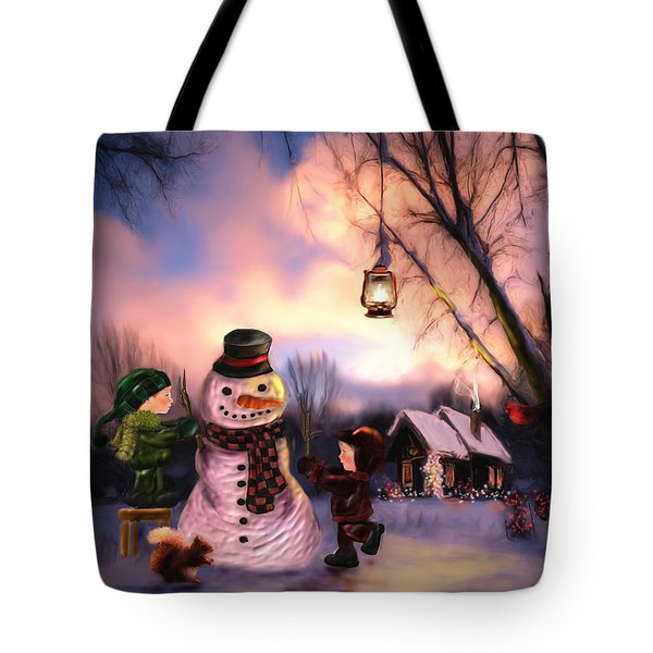 Mr. Frosty Tote Bag