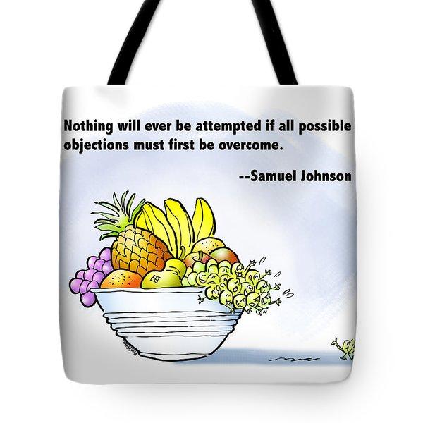 Mr. Grape And Dr. Johnson Tote Bag