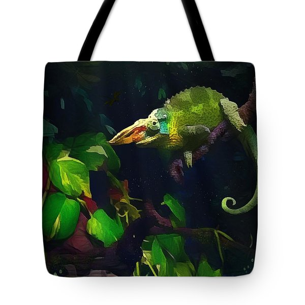 Mr. H.c. Chameleon Esquire Tote Bag by Sharon Jones