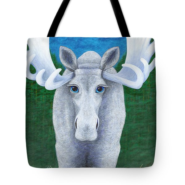 Mr. Moose Tote Bag by Rebecca Parker