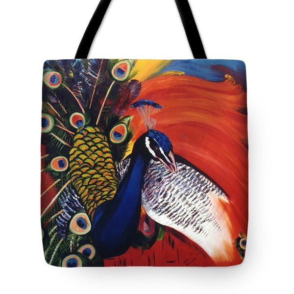 Mr Peacock Tote Bag