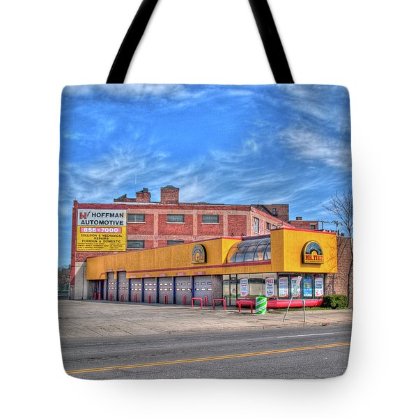 Tote Bag featuring the photograph Mr Tire 15117 by Guy Whiteley