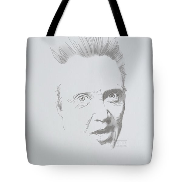 Tote Bag featuring the mixed media Mr. Walken by TortureLord Art