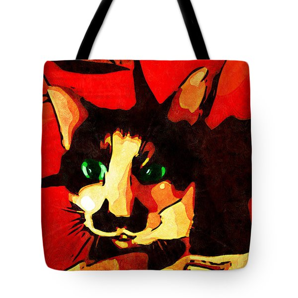 Mr. Wiggins Tote Bag by Iowan Stone-Flowers