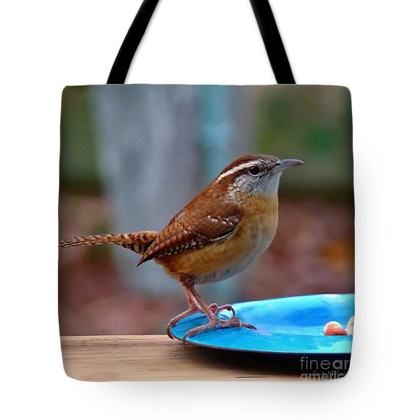 Mr Wren Tote Bag by Sue Melvin