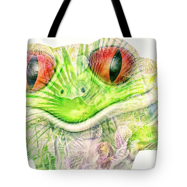 Mr Ribbit Tote Bag by Pamela Williams
