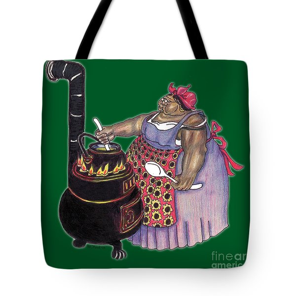 Mrs. Brown Preparing Supper Tote Bag