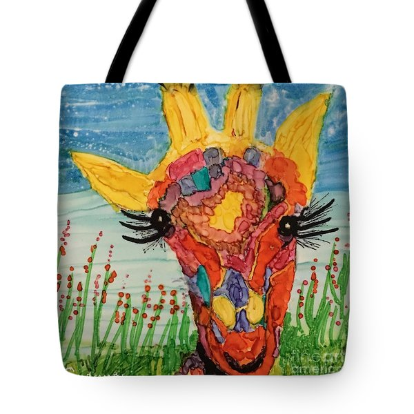 Mrs Giraffe Tote Bag by Suzanne Canner