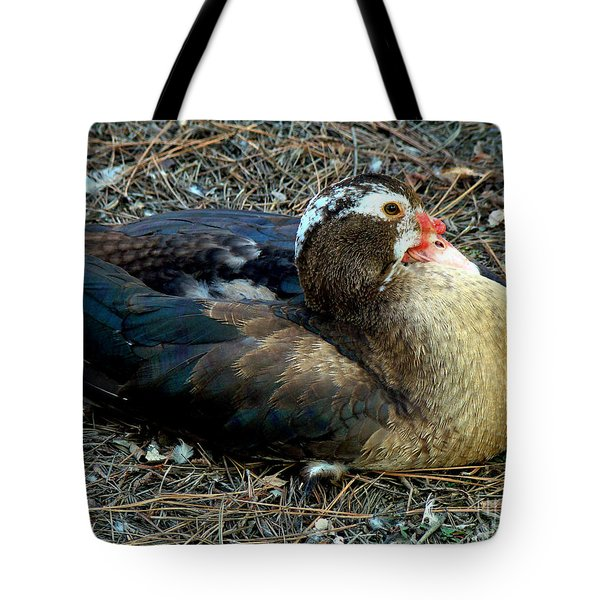 Mrs Muscovy Tote Bag