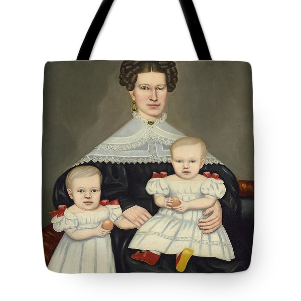 Mrs Paul Smith Palmer And Her Twins Tote Bag