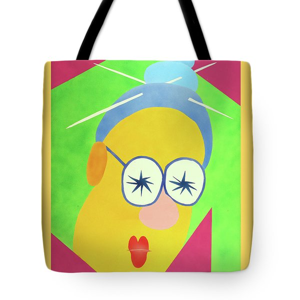 Tote Bag featuring the painting Mrs. Strangefellow by Thomas Blood