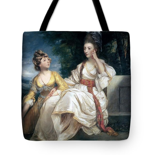 Mrs Thrale And Her Daughter Hester Tote Bag
