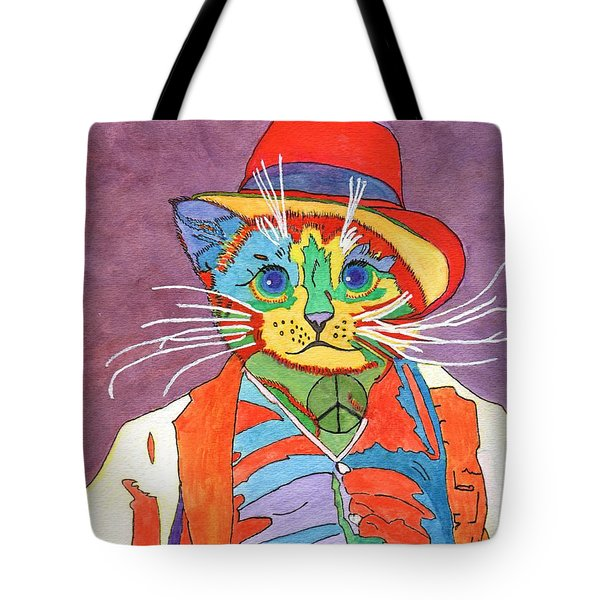 Mr.wisker For Peace Tote Bag