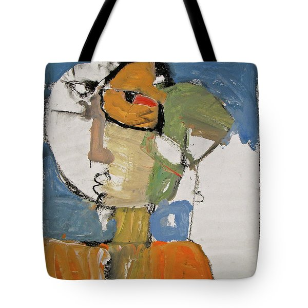 Tote Bag featuring the painting Ms Abby Strac Had One Good Eye by Cliff Spohn