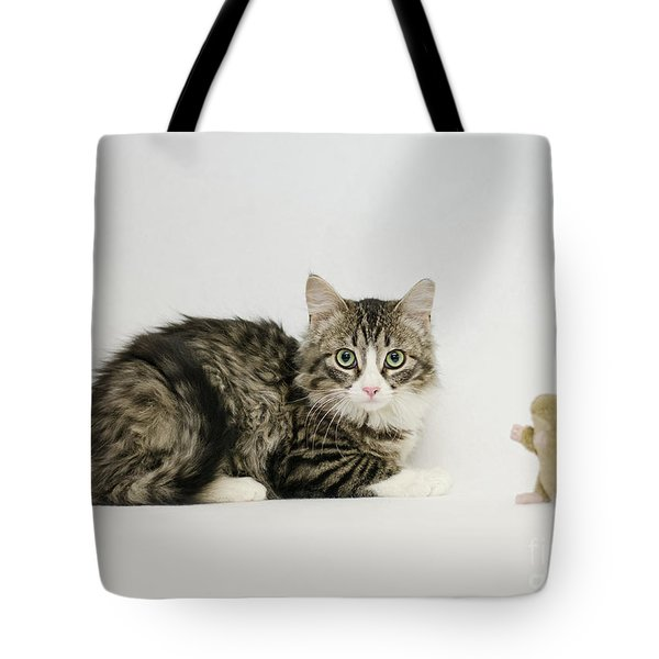 Tote Bag featuring the photograph Ms Alexia And Mouse by Irina ArchAngelSkaya