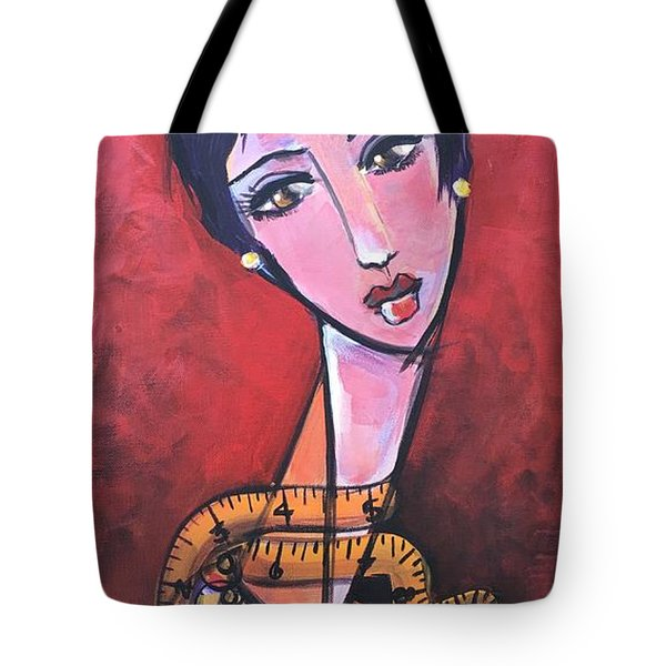 Ms. Bimba Fashionable Seamstress Tote Bag