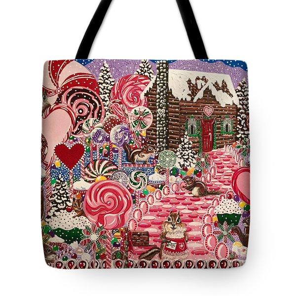 Ms. Elizabeth Peppermint World Tote Bag by Jennifer Lake