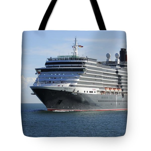 Tote Bag featuring the photograph Ms Queen Victoria Approaching by Bradford Martin