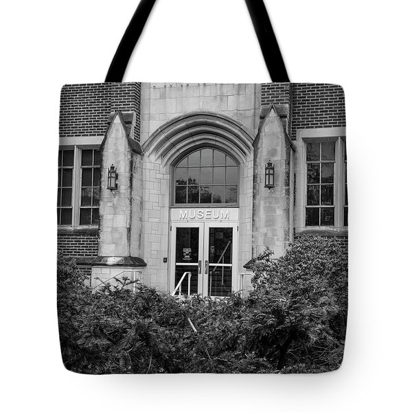 Msu Museum Black And White  Tote Bag by John McGraw