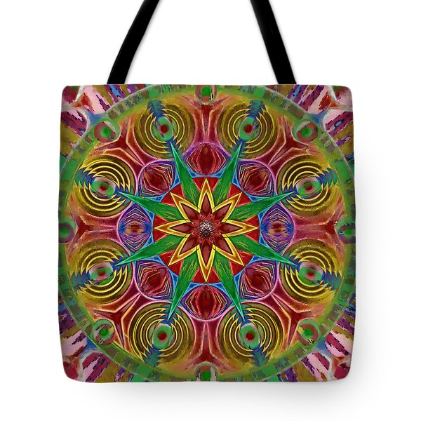 Tote Bag featuring the painting Msytic Visions by Mario Carini