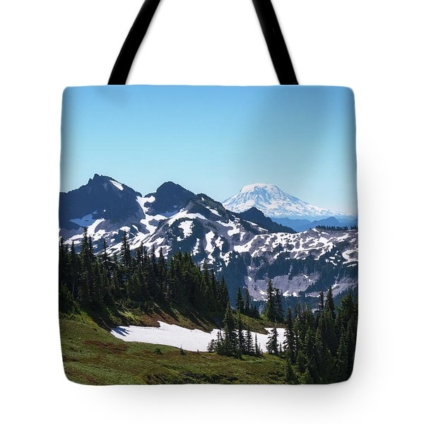 Tote Bag featuring the photograph Mt Adams II by Sharon Seaward