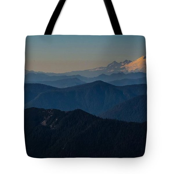Mt. Baker From Mt. Pilchuck Tote Bag