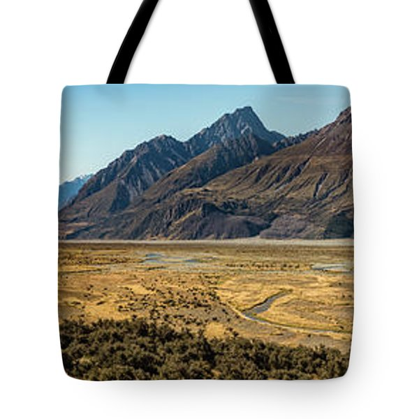 Tote Bag featuring the photograph Mt Cook And Tasman River  by Gary Eason