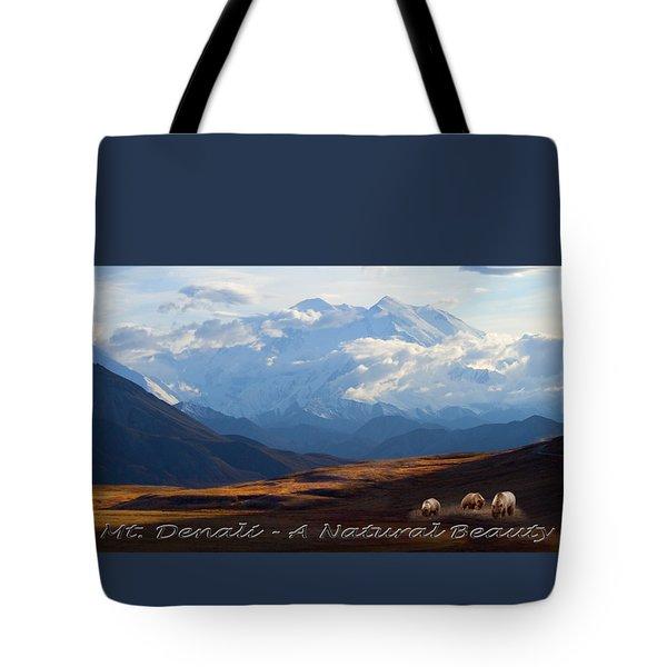 Mt. Denali National Park Tote Bag